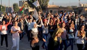 Manifestación en Rojava